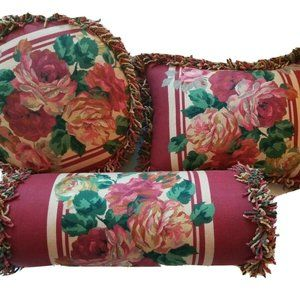 Other - Vintage Shabby Accent Pillows Set Of 3 Cottage